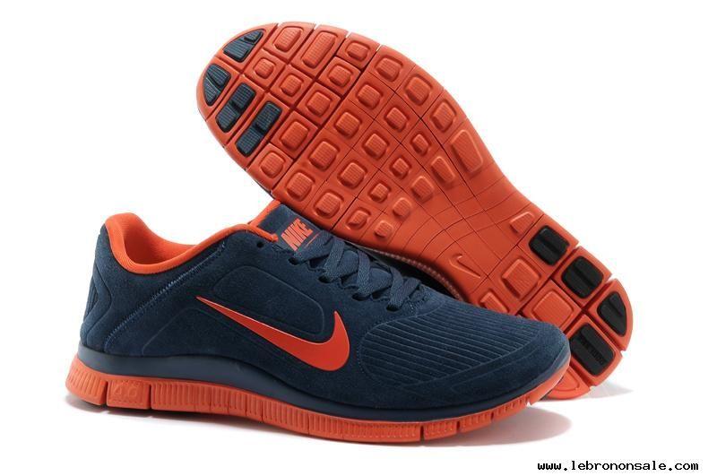 Mens Nike Free 4.0 V3 Suede Deep Blue Orange Running Shoes Buy For Sale 601d744ba0bd