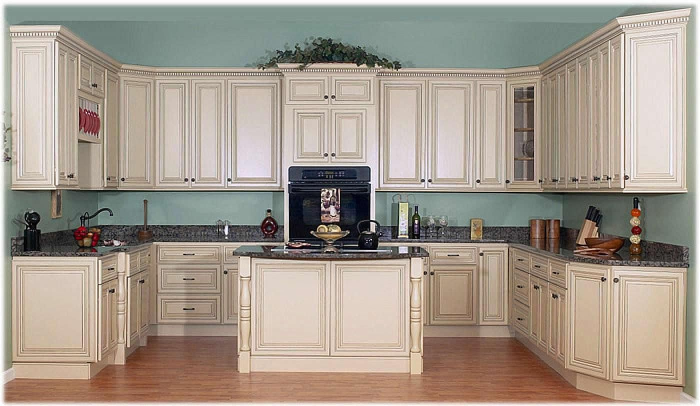 Antique white cabinets kitchen - Antique White Cabinets With Glaze Antique White Kitchen Cabinets With Chocolate Glaze Pict