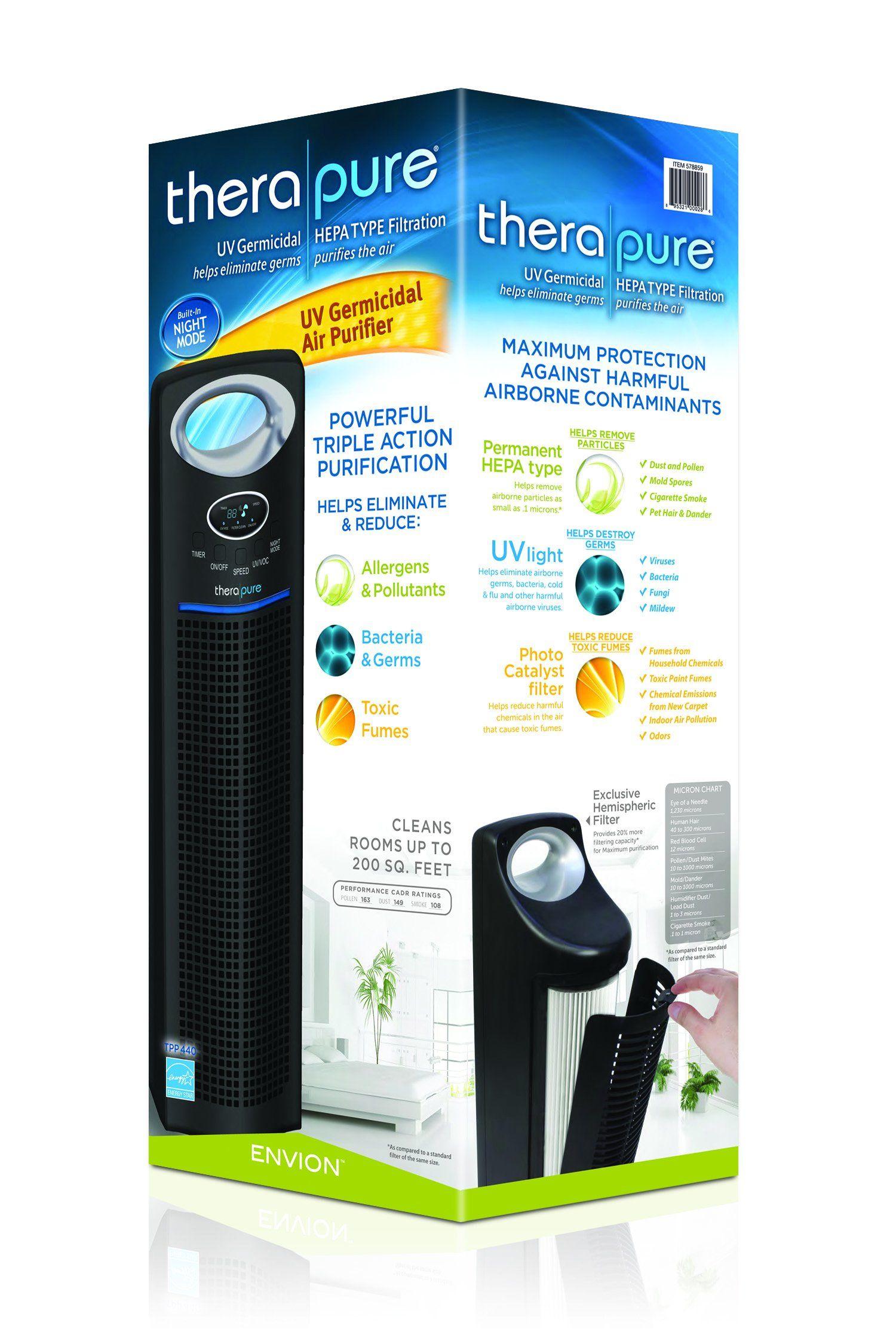 Envion Therapure TPP440 Permanent HEPA Type Air Purifier