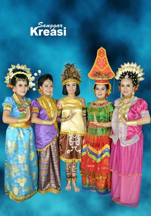 Baju Tari Kreasi : kreasi, Kostum, Kreasi, Tari,, Penari,, Tarian