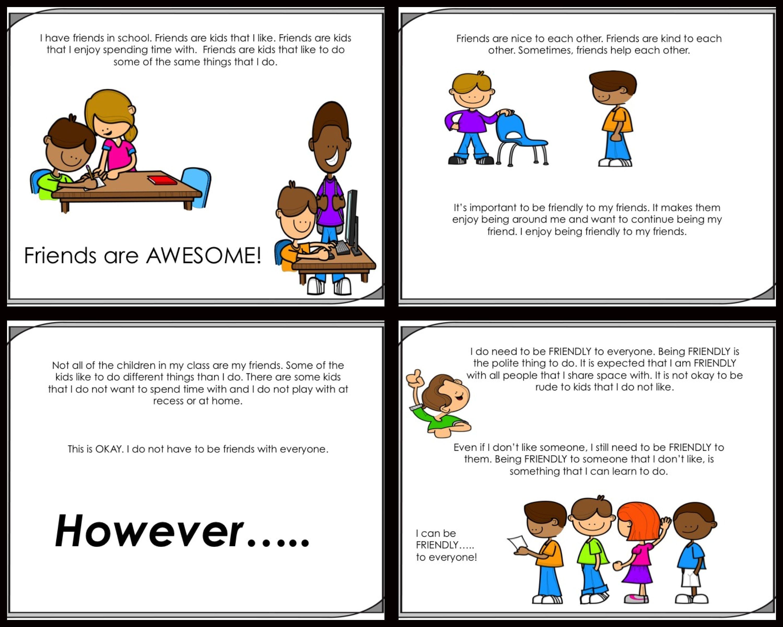Social Story Pack 5 Friendship Skills K 2nd