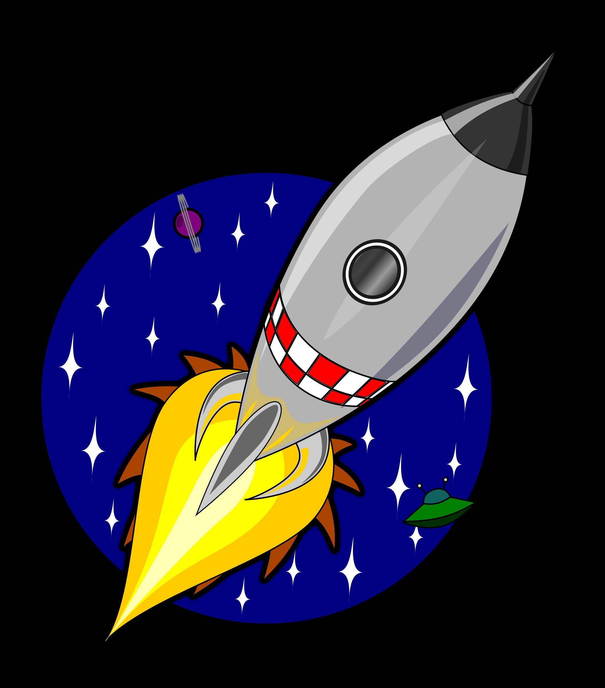 Animation of Kliponius-Cartoon-rocket using JavaScript  A