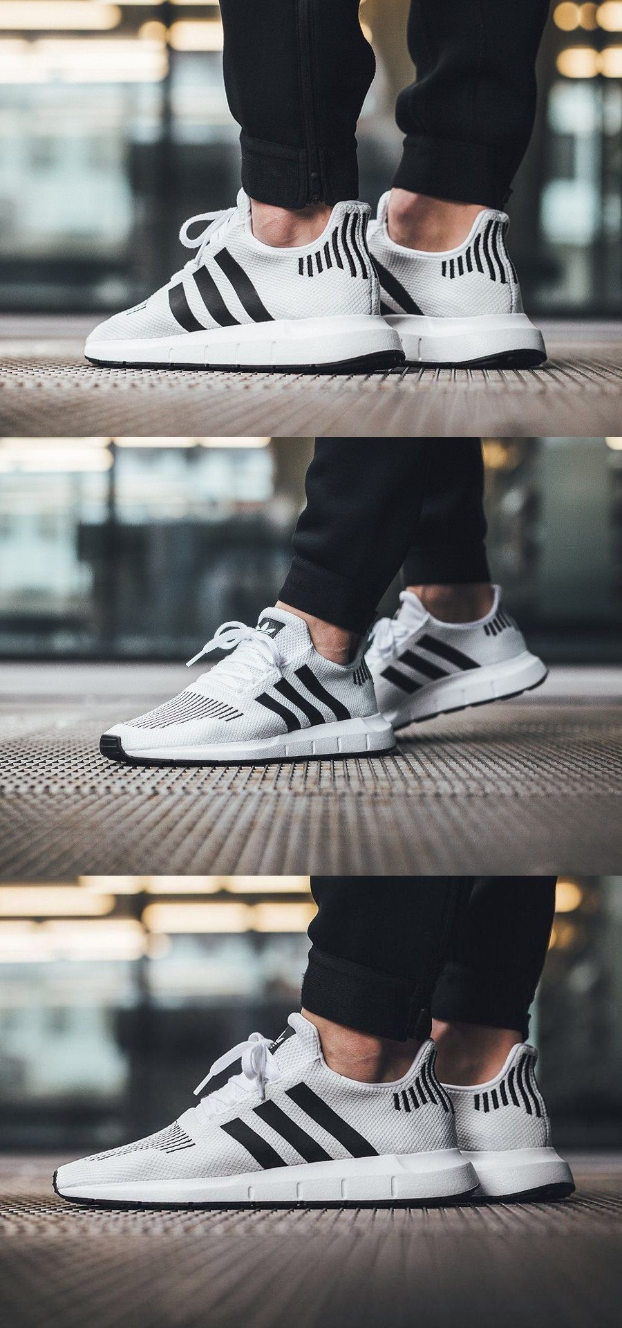 Adidas #Swift #Run #White #Black | Calzado masculino, Estilo