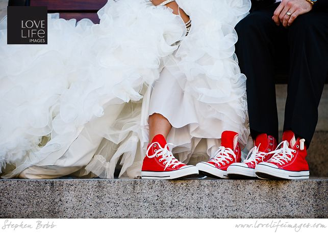 7 Tips For Planning A Small Courthouse Wedding: Red Converse Shoes For The Boys To Wear At Uncle Kris