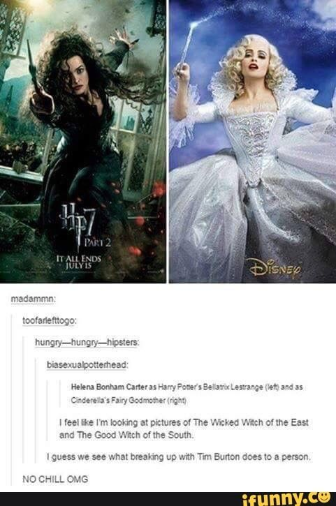 Hahah Harry Potter Jokes Harry Potter Funny Helena Bonham Carter