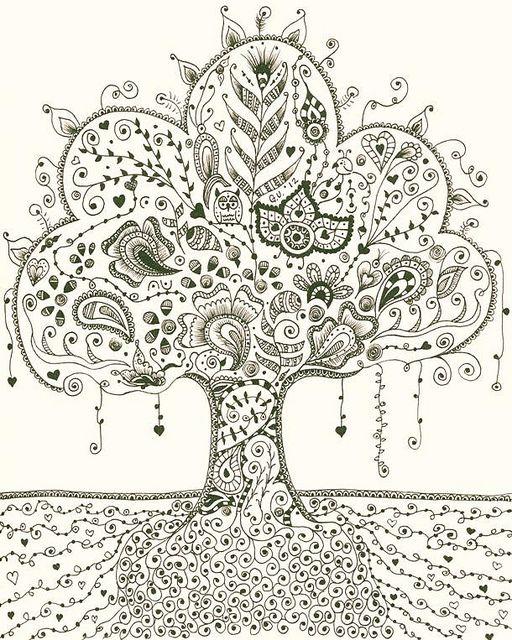 ❤∞~ Árbol de la Vida~∞❤ | Árboles | Pinterest | Zentangle, Arte ...
