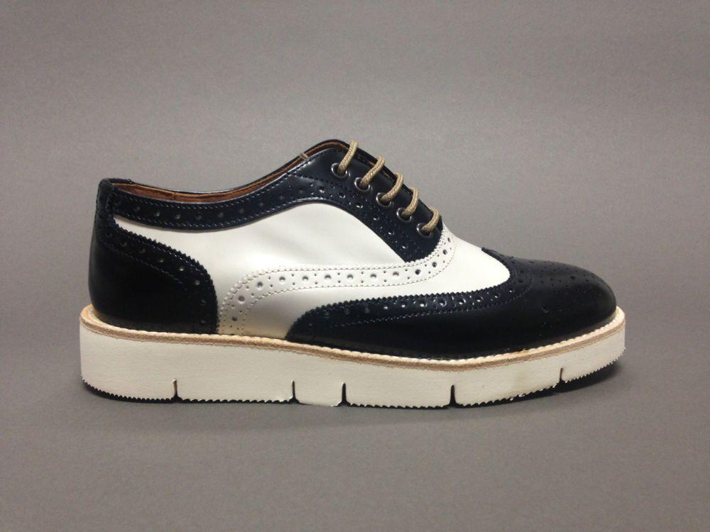 scarpe da donna con lacci francesine inglesine pelle platform brogues  platform b81df8b3c5f