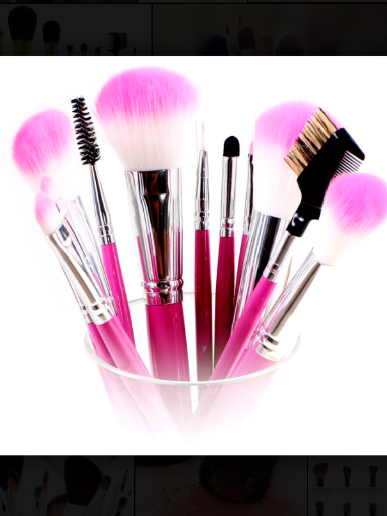 Makeup brushes Cosmetic brush set, Types of makeup