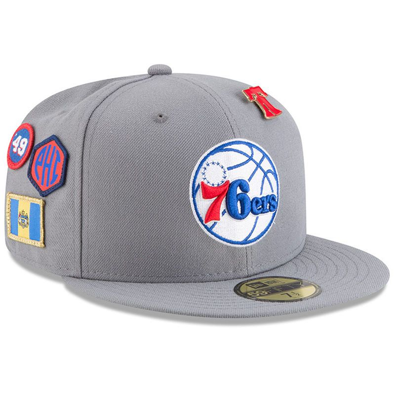 meet 7acc3 83126 Philadelphia 76ers New Era 2018 Draft 59FIFTY Fitted Hat – Gray