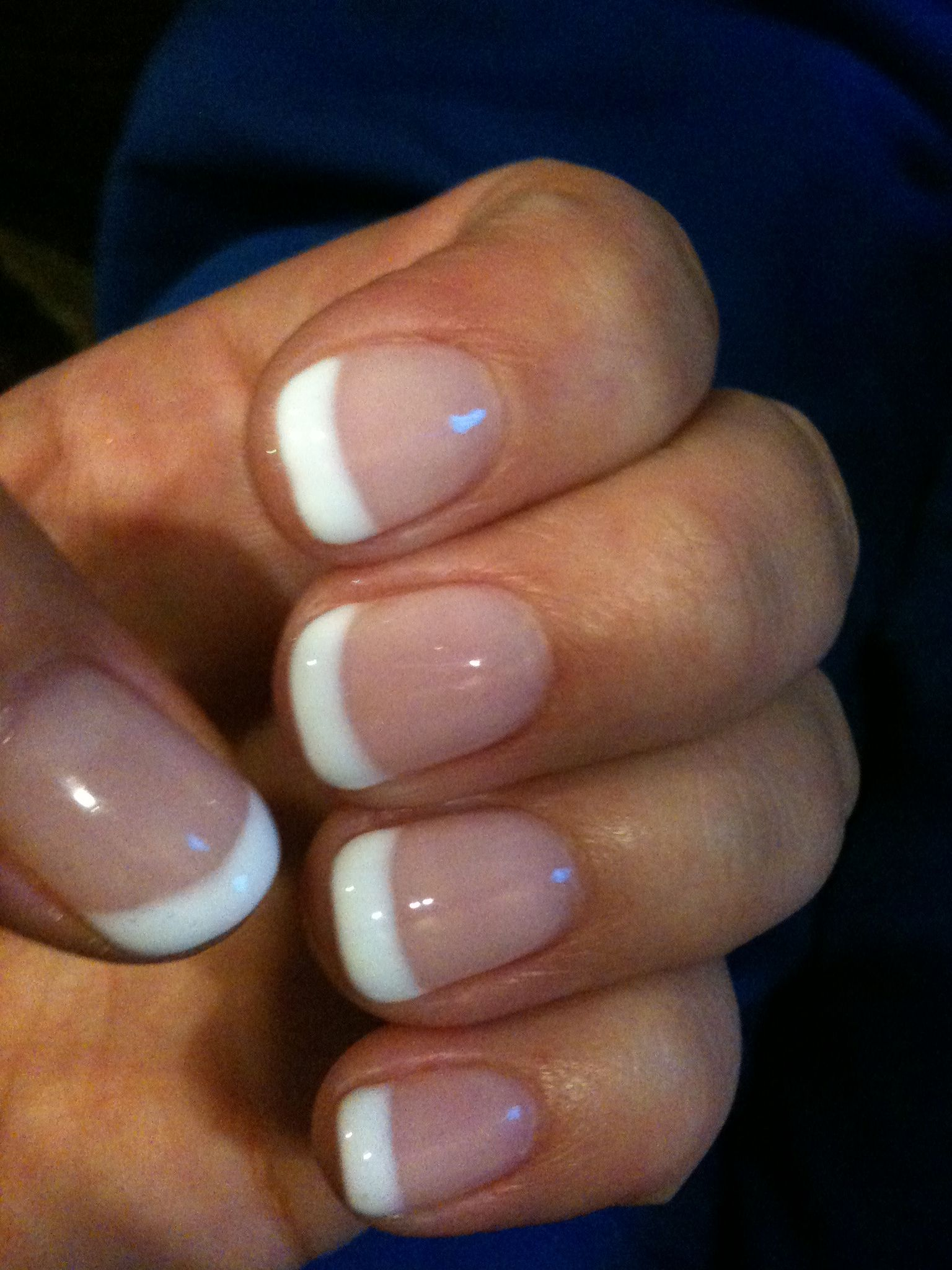 Short nails French tips | Nails | Pinterest | Nail french, Short ...