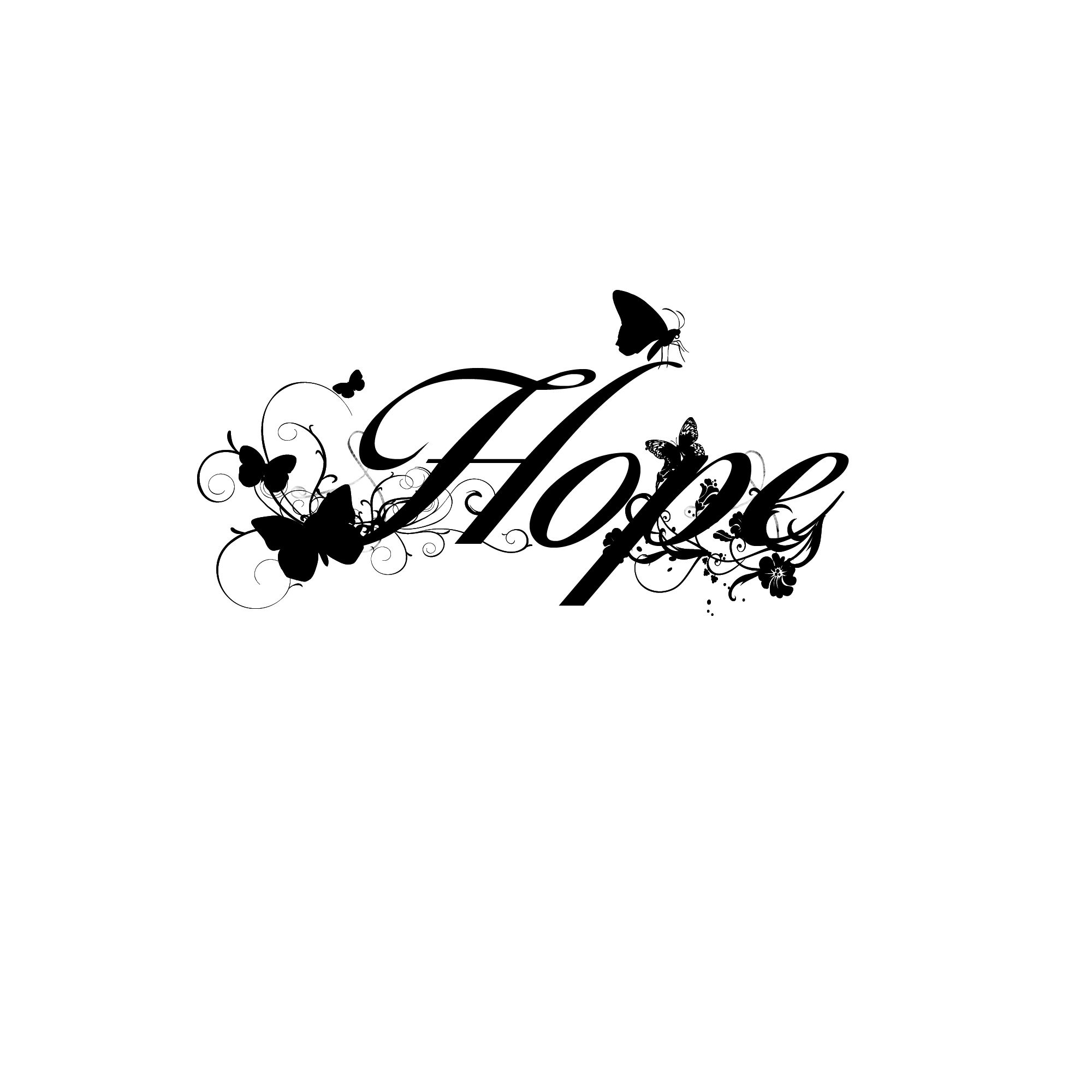 Hope word art for shop design black and white pictures word art
