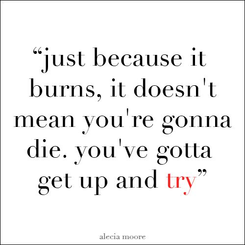 P Nk Pink Try Quote About Burns Die Get Up Never Give Up Try Pink Song Lyrics Singer Quote Song Quotes