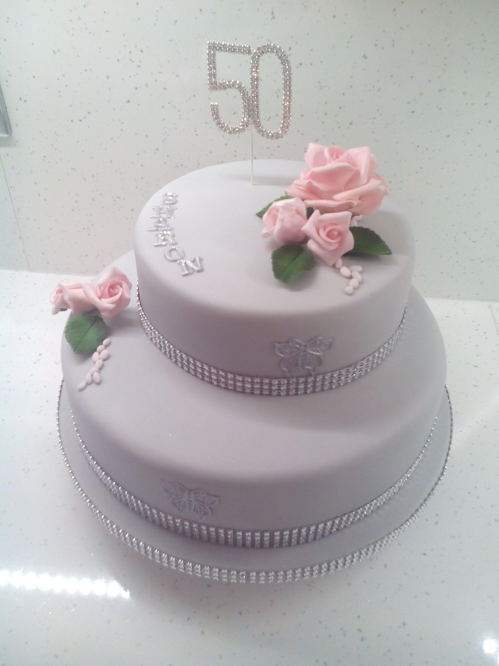 50th birthday sugar craft cake 50th birthday
