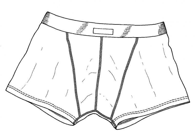 dibujo calzoncillo   Bolsas de viajes para guardar ...