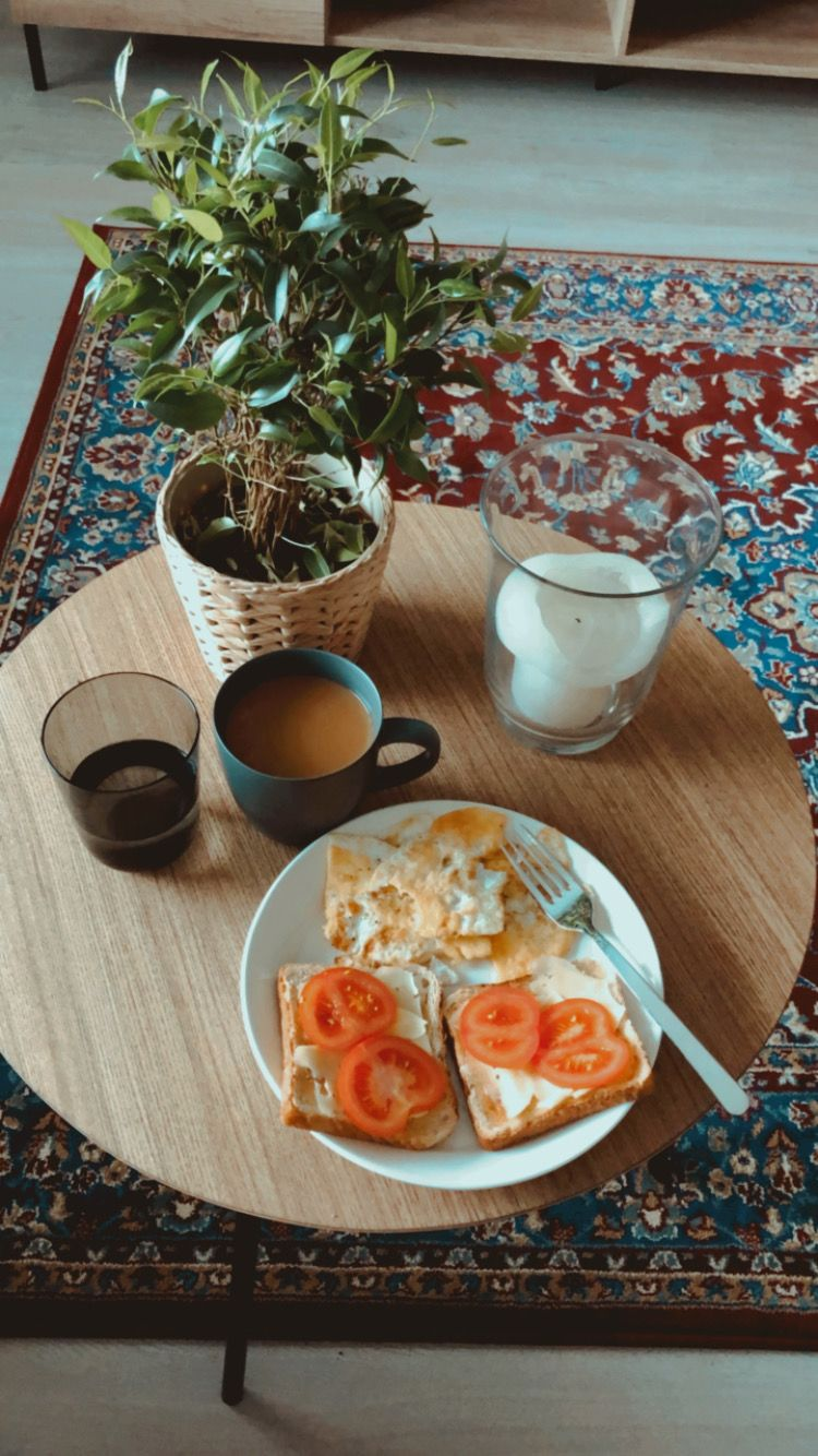 #coffee #toast #plant #rugs #decor #livingroom #vintage
