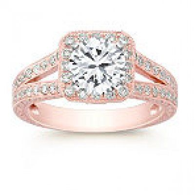 Rose Gold vintage Engagement Ring