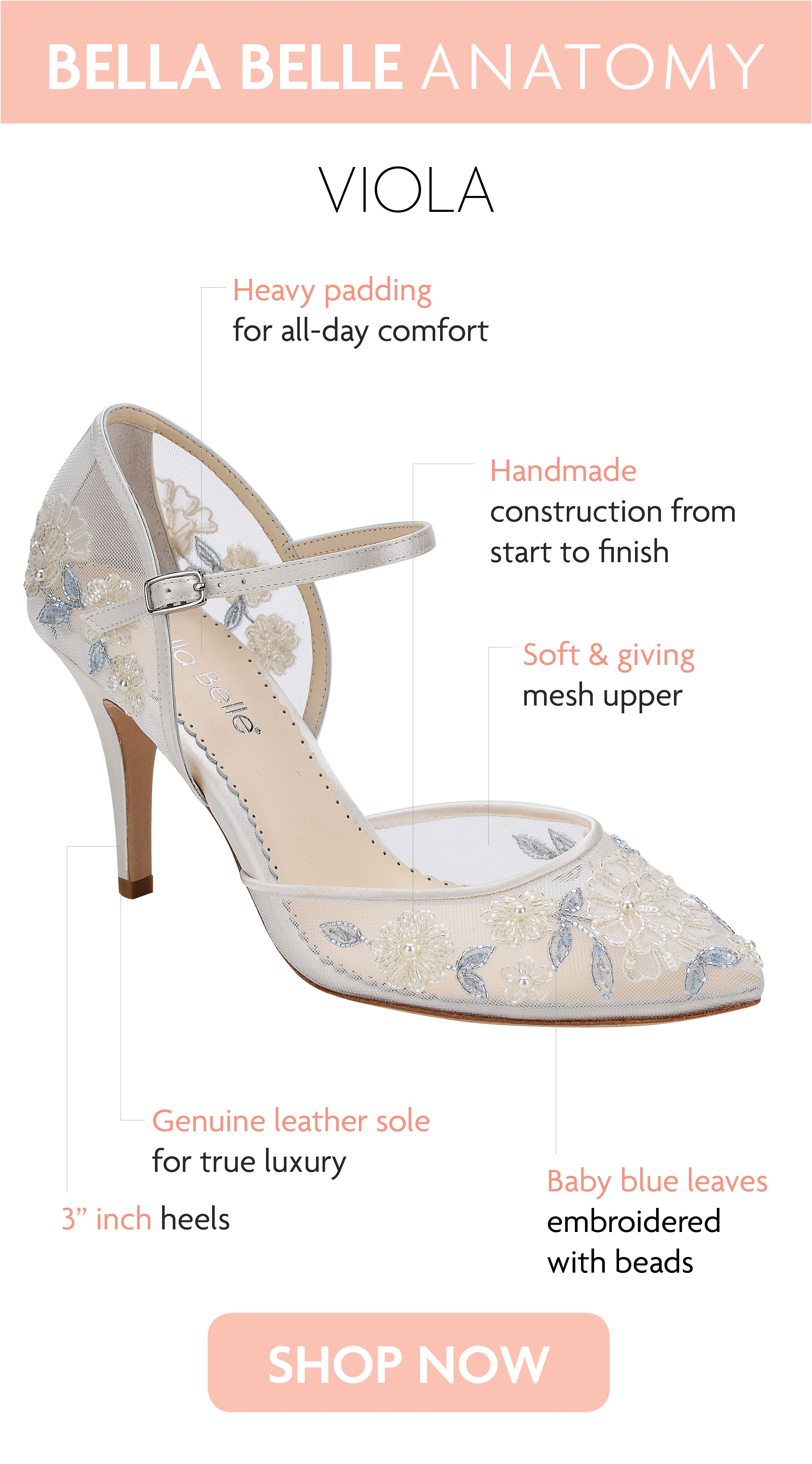 Baby Blue Floral Lace Ivory Wedding Heel With Images Wedding