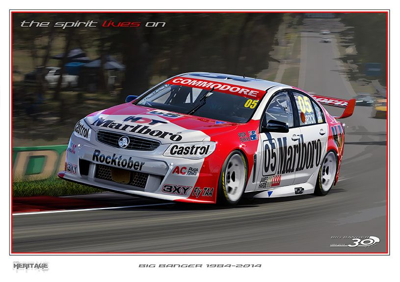 Vf Series At Bathurst With The Late Great Legendary Peter Brock S 05 Livery R I P Mate Holden Muscle Cars Australian Cars Classic Cars