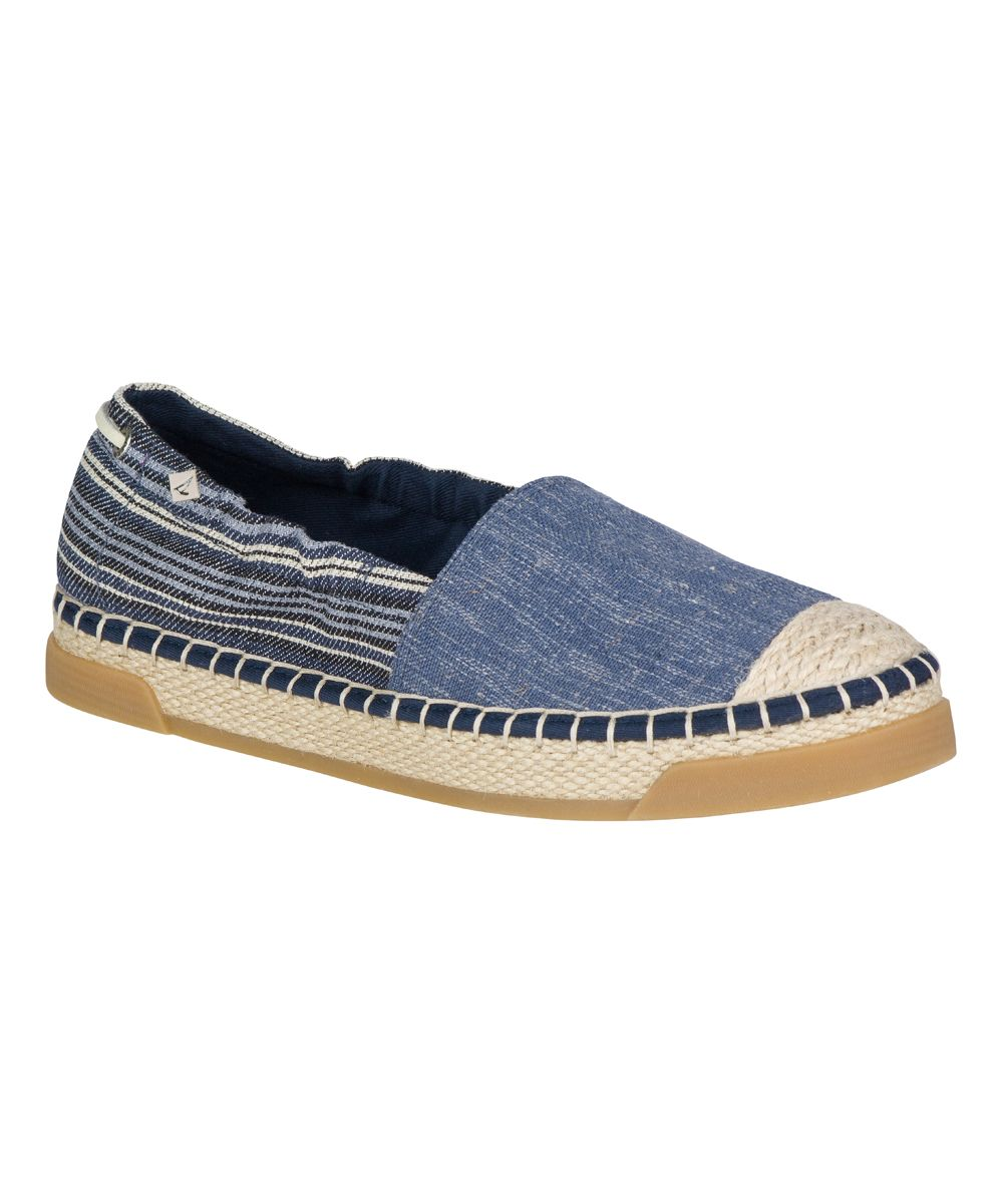 Denim Stripe Laurel Reef Espadrille - Women