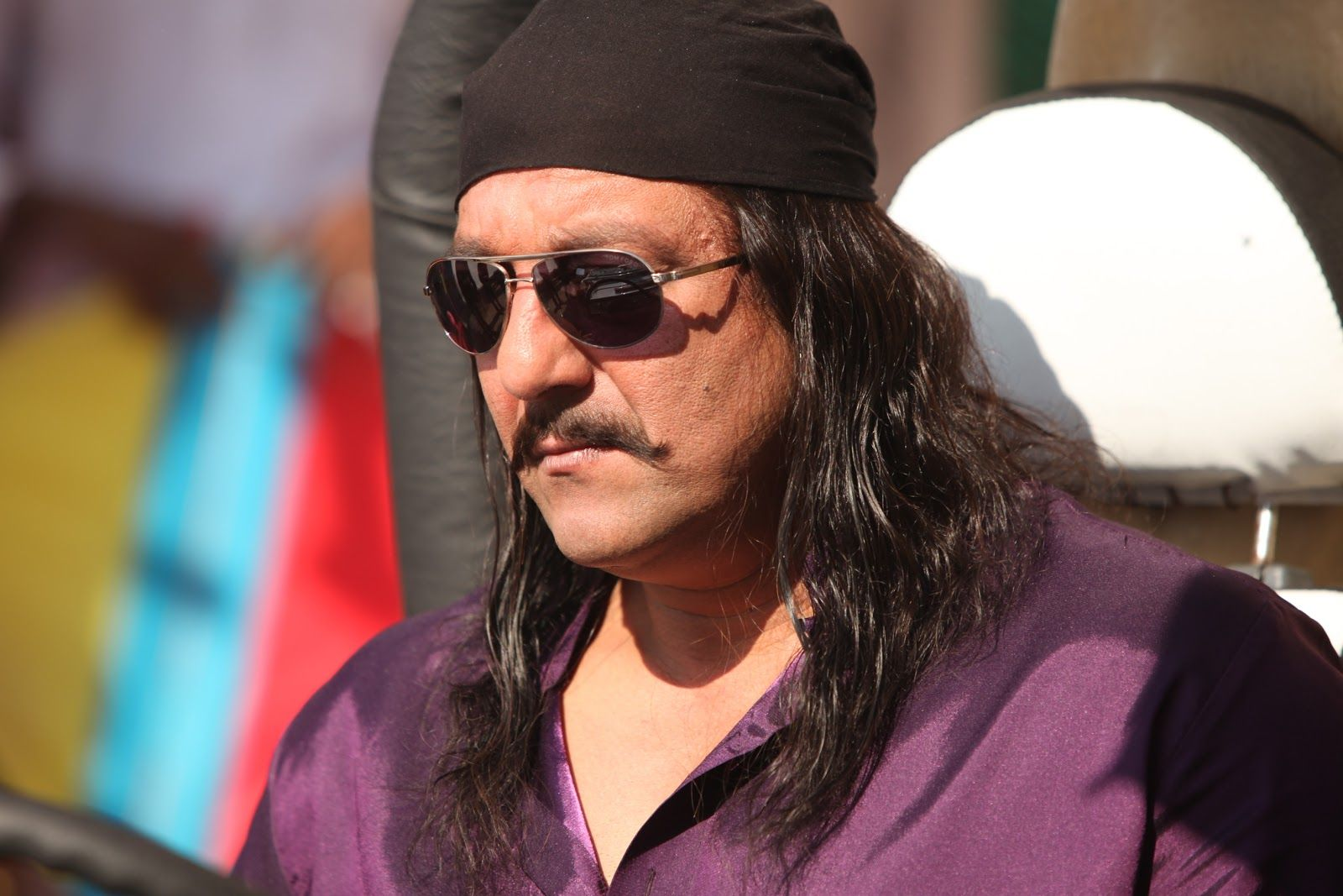 Sanjay Dutt Styles His Mouch With Long Wavy Hair For Son Of Sardar Movember Moustache Erosnow Bollywood Ondemandmovies Long Wavy Hair Wavy Hair Moustache