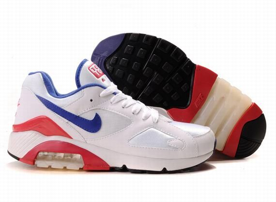 Nike Air Max Mens 180 Shoes WhiteLight BlueBlack