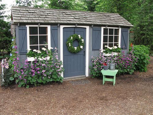 Cute Blue Garden Shed By Sunshinesyrie Via Flickr