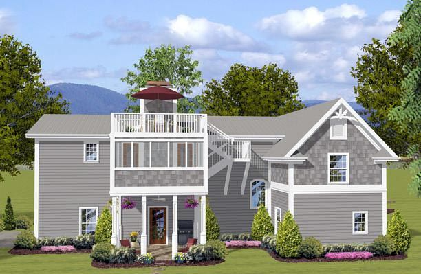 Craftsman Style 3 Car Garage Apartment Plan Number 74841 With 1 Bed 2 Bath Rv Storage Carriage House Plans House Plans Architectural Design House Plans