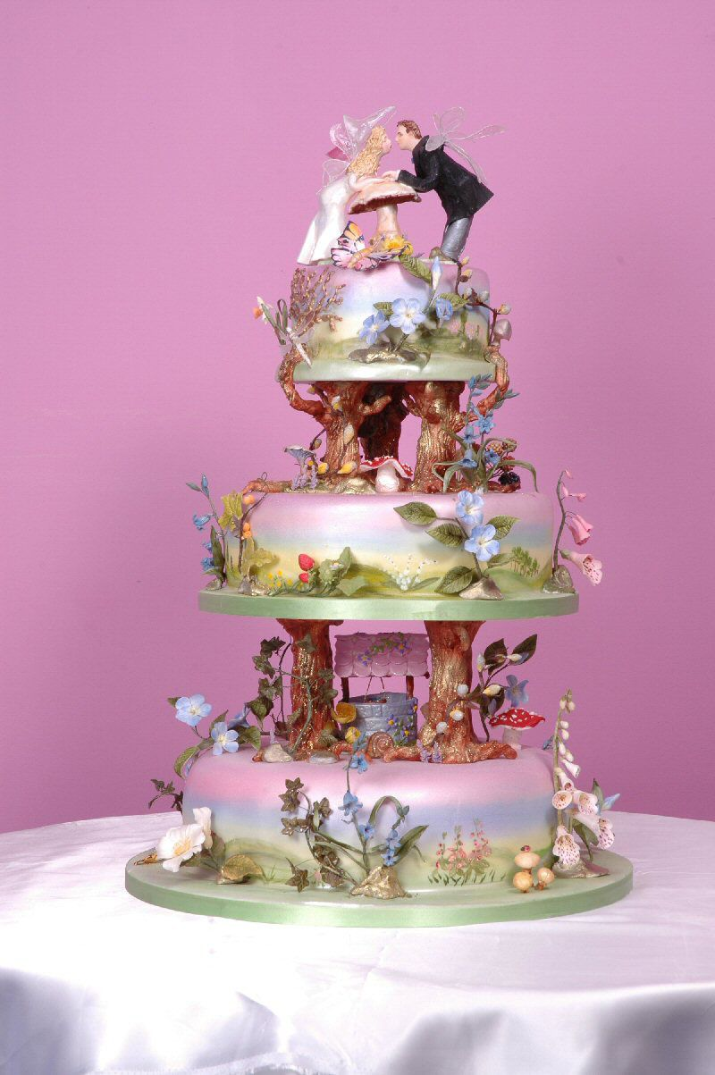 fairytale wedding cake for all your cake decorating supplies please visit. Black Bedroom Furniture Sets. Home Design Ideas