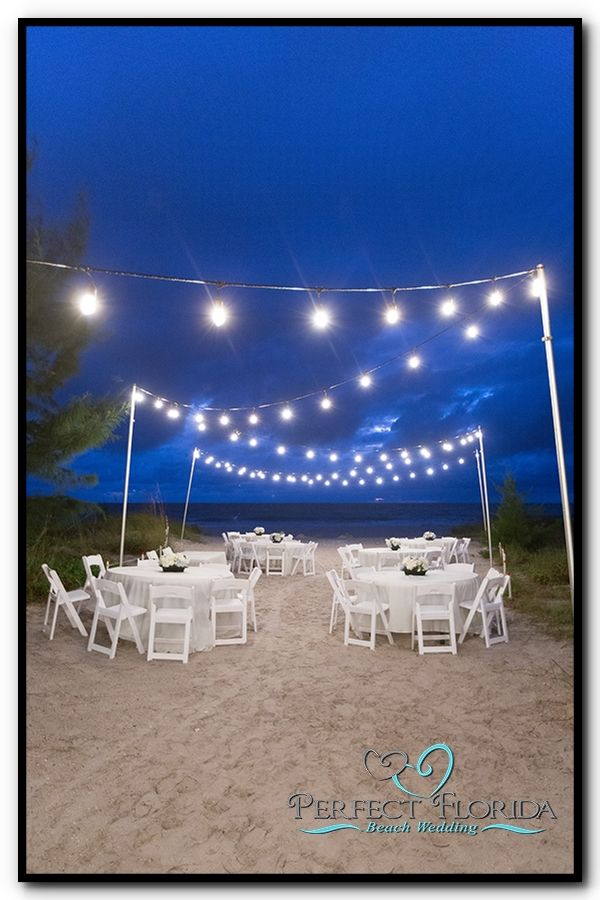 Simple Wedding Reception With Overhead Lighting St Pete Beach Lions Club Treasure Island Fl
