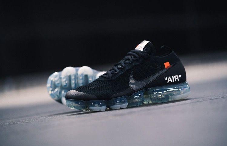 9013b44ffa OFF WHITE x Nike Air VaporMax 2018 OW 2.0 Flyknit Black Women Men | Sneaker  collection in 2019 | Nike air vapormax, Nike air, Nike