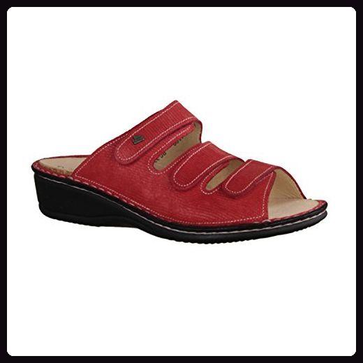 Finn Comfort Pisa - Damenschuhe Pantolette/Zehentrenner, Rot