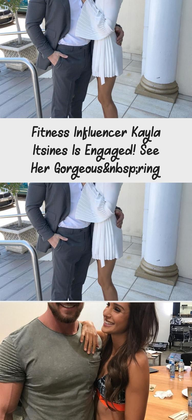 Fitness Influencer Kayla Itsines Is Engaged! See Her Gorgeous Ring #weddingrings...  Fitness Influen...