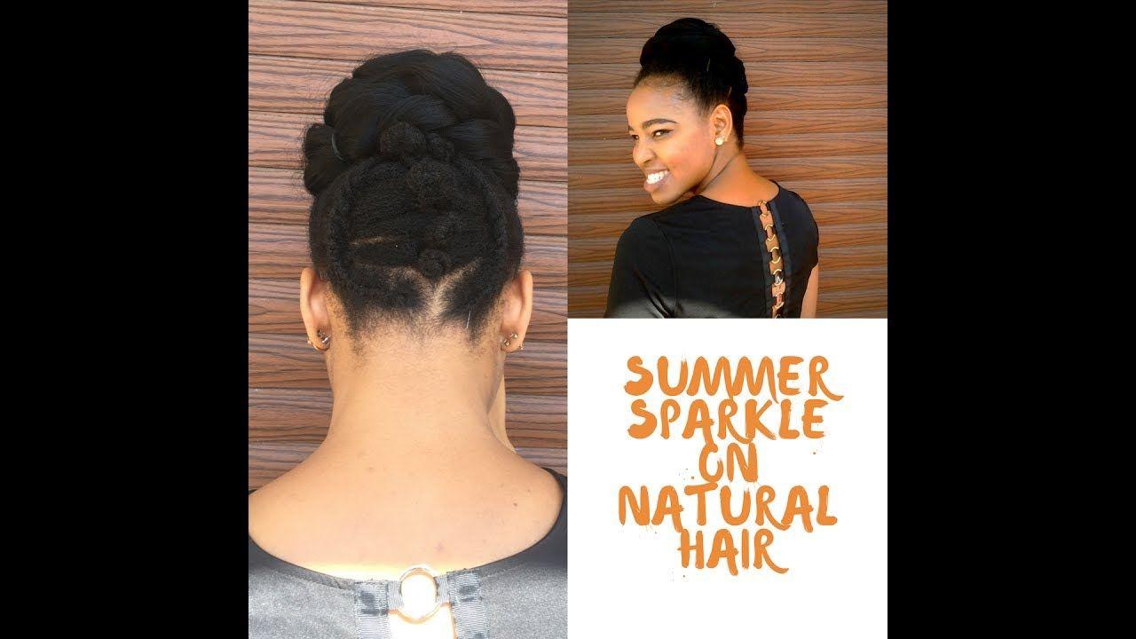 Summer sparklec natural hair inspiration bun u bantu knot