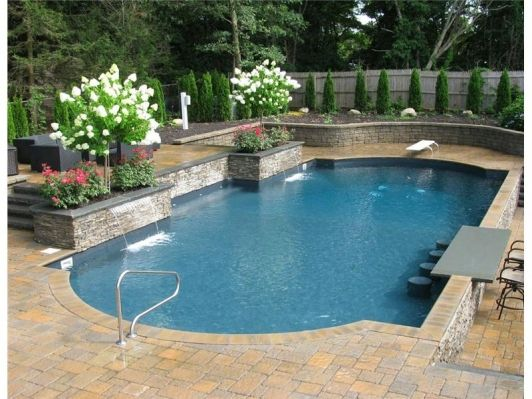 Pool renovation design pools pinterest pool designs pool landscaping and swimming pool for Swimming pool renovation ideas