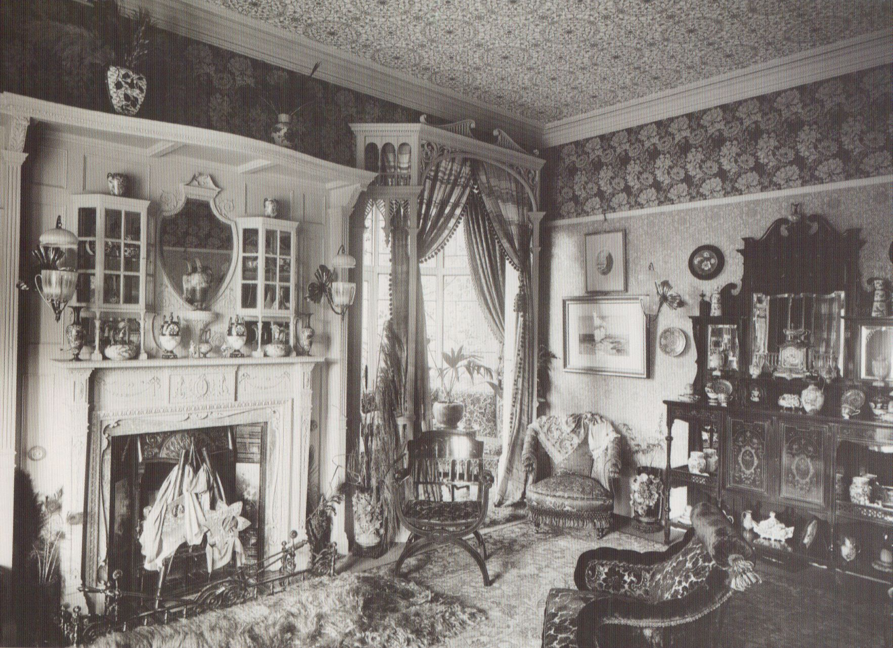 """Victorian Drawing-room, 1890, With William Morris"