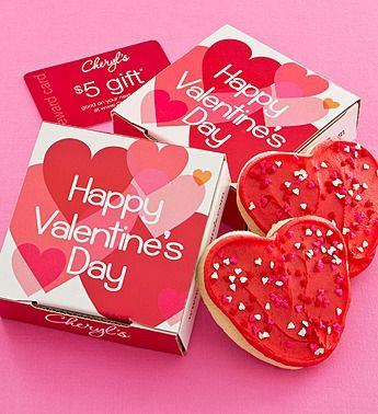 Valentine\'s Day cookie at Cheryl\'s Cookies $5 free shipping ...