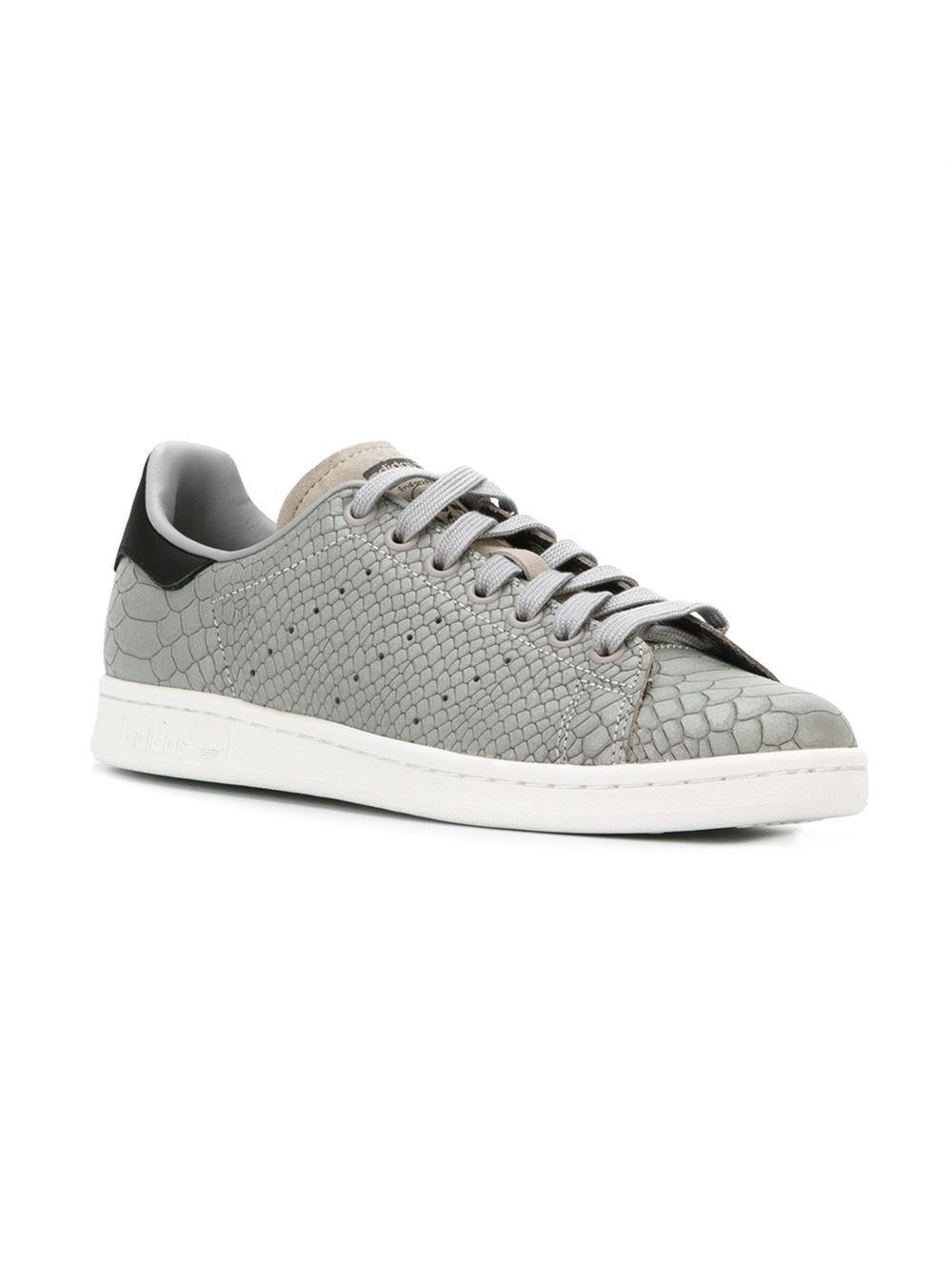 Adidas Stan Smith gray python skin effect sneaker