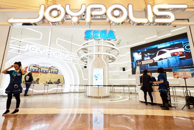 Zip, zap, zoom. A tour of the Sega Joypolis arcade and amusement park in Global Harbor Mall.