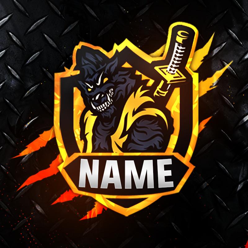 Wolf Gaming Clan Mascot Avatar Logo design art, Logo