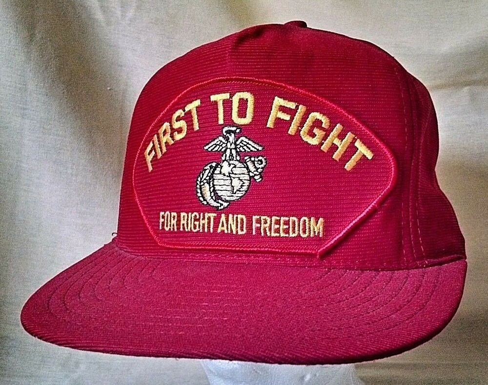 Marines Hat First To Fight For Fight Freedom Patch