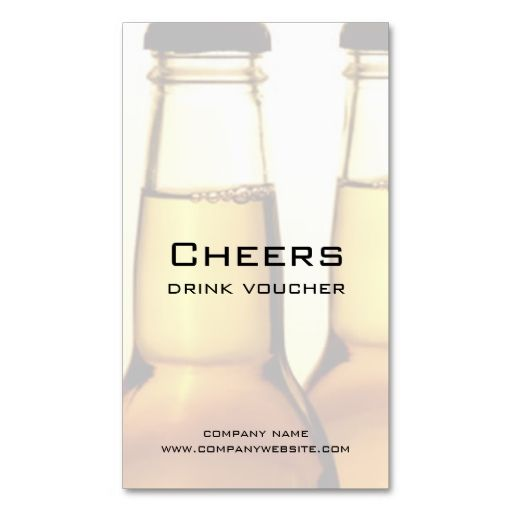 Beer Restaurant or Brewery Drink Voucher Cards Card templates - Make Your Own Voucher
