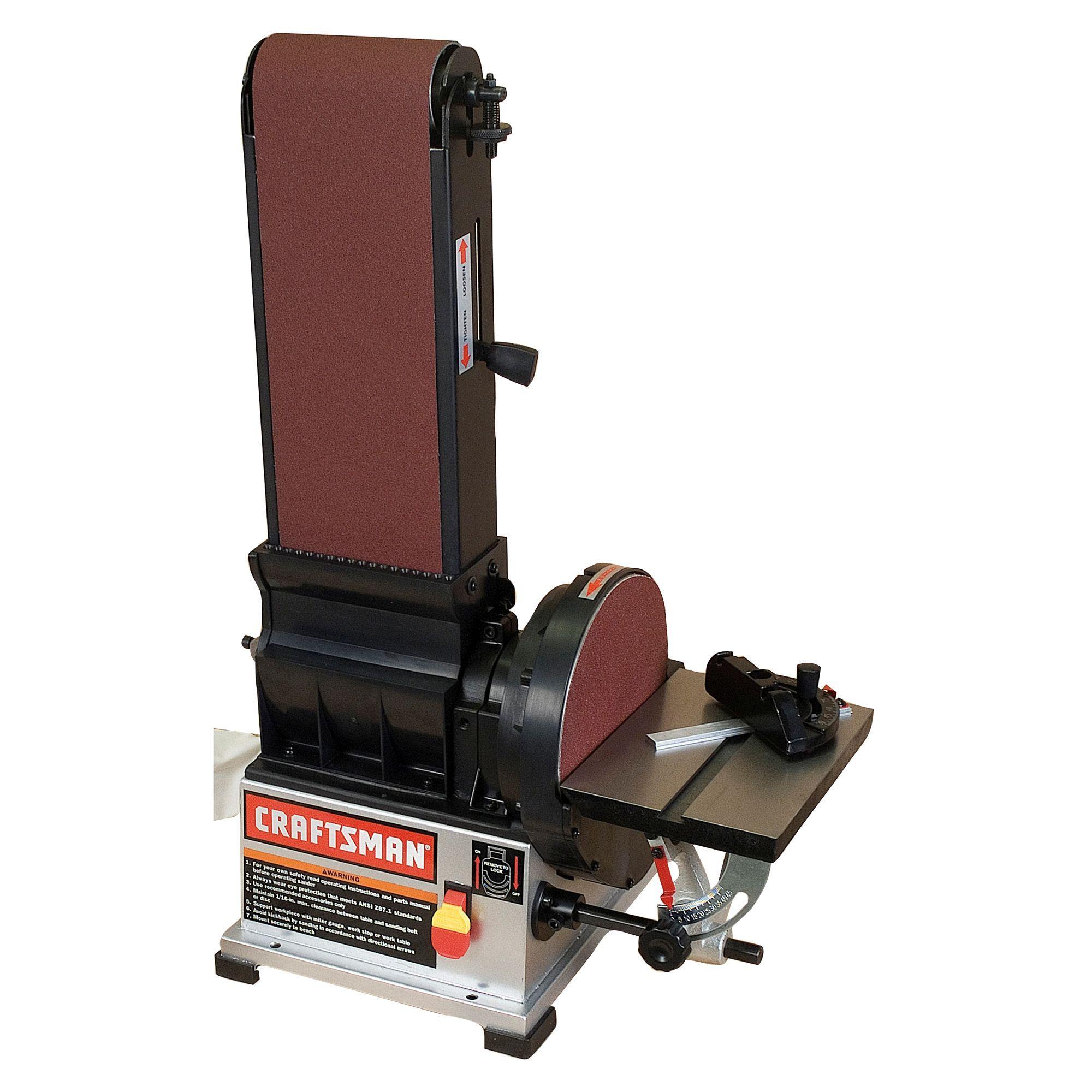 Craftsman 3 4 Hp 6 X 9 Belt Disc Sander 22500 Tools Bench Stationary Power Tools Sanders Craftsman Woodworking Power Tools Belt Sander
