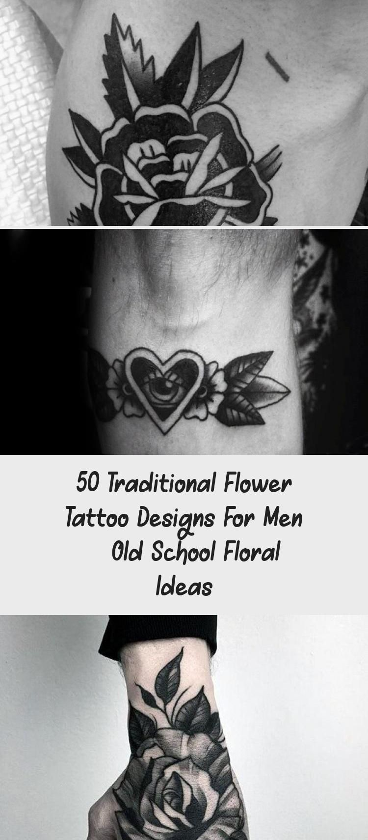 Photo of 50 Traditional Flower Tattoo Designs For Men – Old School Floral Ideas – Tattoo İdeas