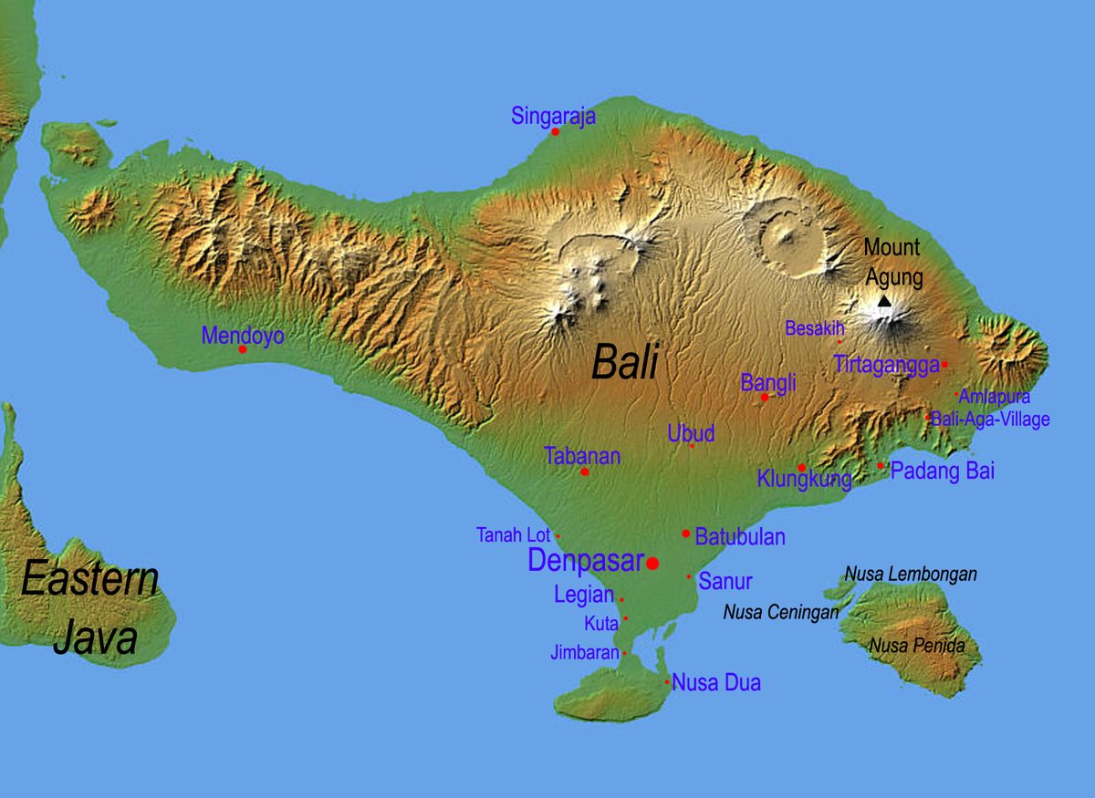 Bali map bali attractive bali pinterest bali map gumiabroncs Images