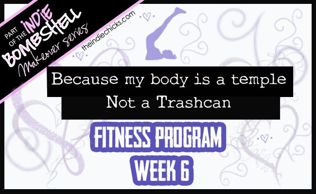 Bombshell Fitness Program- Week 6 We're half way there, bombshells! Half way to making lifelong patterns, to being a healthier, stronger, and more amazing version of yourself. Stay on track, keep it up, the results should be showing and more importantly you should be feeling them. Just like I promised, this week it going to be harder than the last but don't worry-you've been building up to this and I know you can do it. #TheIndieChicks #makeover #workout #bombshell