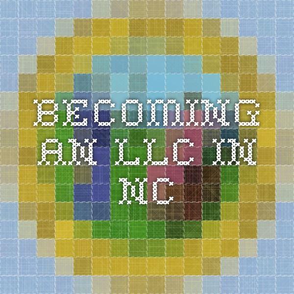 Llc In Nc >> Becoming An Llc In Nc Blogging Tips North Carolina Blog