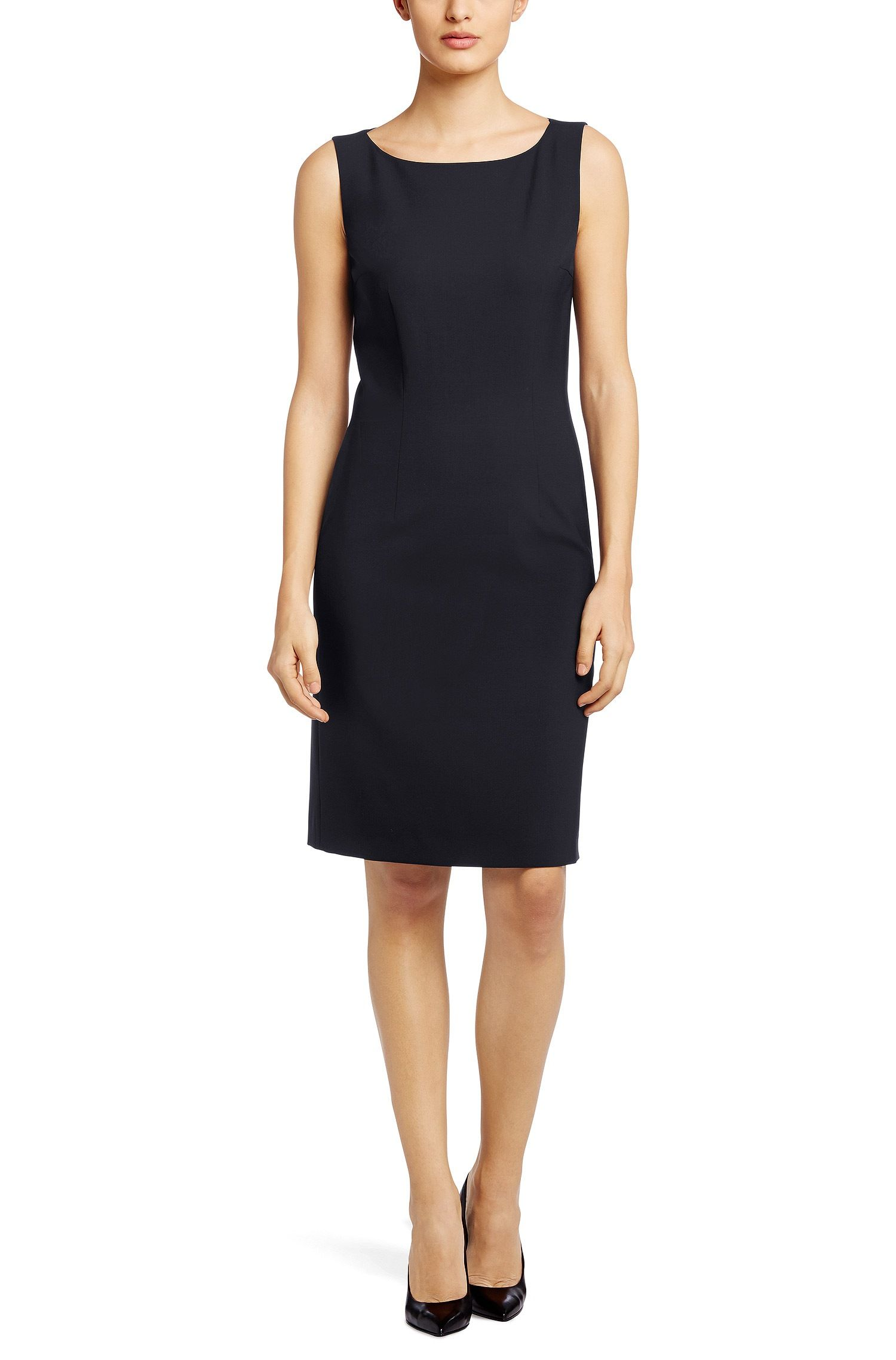 dress 'dinoma1' in a new wool blend   little black dress