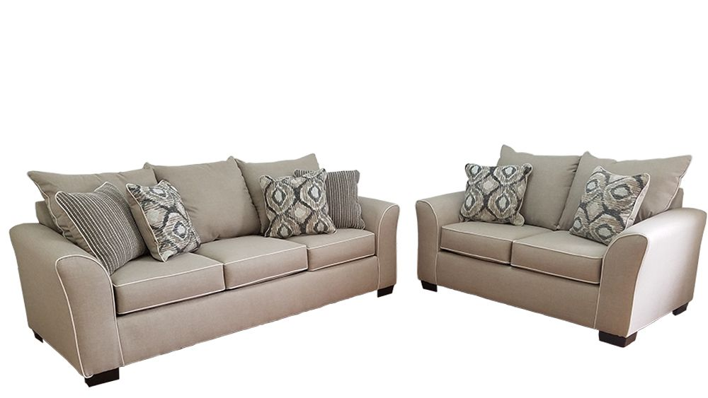 Affordable Ashton Khaki Sofa Loveseat Set 5702 Savvy Discount Furniture Sofa And Loveseat Set Cheap Sofas Loveseat Sofa