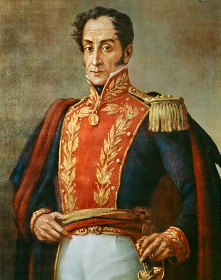 Simon Bolivar El Libertador Liberated Latin America From The