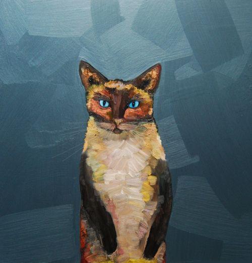 Siamese 18 X 18 Acrylic And Oil On Wood By Eli Halpin At Elihalpin Com Http Elihalpin Com Animal Canvas Art Cat Wall Art Animal Canvas